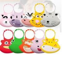 baberos de silicona envío gratis al por mayor-10 colores INS bebé lavable bebé de silicona alimentación bebé baberos bebés niños niñas baberos envío gratis