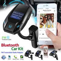 Wholesale bluetooth usb port resale online - 2018 High Quality Wireless Bluetooth FM Transmitter Radio Adapter Hands free Car Kit Port USB Charger