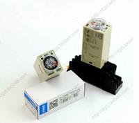 ingrosso relè a bassa potenza-Promozionale piccolo relè di ritardo di potenza h3y-2 a bassa potenza AC220V DC12 / 24V con H3Y-2 Base 5A resistivo