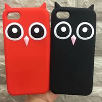 cajas del teléfono lindo búhos al por mayor-Venta al por mayor 3D Funda de silicona suave TPU para iPhone 7 7 Plus Cubierta linda del teléfono del búho para iPhone X 8 7 6 Plus