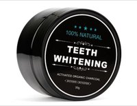 Wholesale clean shells online - 100 Natural teeth Powder Bamboo dentifrice Oral Care Hygiene Cleaning activated organic charcoal coconut shell Food tooth Yellow Stain g