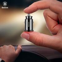 mini gps mobile оптовых-Baseus Mini USB Автомобильное зарядное устройство для мобильного телефона Планшетный GPS 3.1A Быстрое зарядное устройство Автомобильное зарядное устройство Dual USB Автомобильное зарядное устройство для телефона Адаптер в автомобиле
