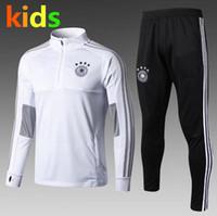 Wholesale Top qualty Germany kids Training Suit Maillot de Foot Survetement Football Chandal Soccer Tracksuit Marseilles Training suit