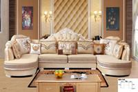 conjuntos de mobiliário para sala de estar venda por atacado-Moderna sala de estar sofá da tela L forma secional macia confortável conjunto de sofá sala de estar mobiliário confortável sofá macio conjunto de tecido
