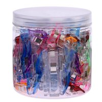 small tool kit оптовых-VODOOL 100Pcs/jar Transparent Plastic Clip Patchwork Sewing Clamp Tools Kit 25 Large + 75 Small Clips