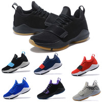 Wholesale cheap home fabric - 2018 Paul George PG1 Shining Ferocity Men Basketball Shoes for Cheap Sale PG 1 Los Angeles Home High quality Sports Sneakers Size 40-46