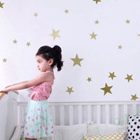 Wholesale Wall stickers stars for kids rooms Golden Star gold wall decal Art Decor