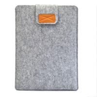 feltro comprimido casos venda por atacado-Luva macia saco de feltro saco capa anti-risco para 11 polegadas / 13 polegada / 15 polegada macbook air pro retina ultrabook laptop tablet qjy99