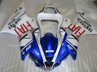 yamaha yzf r1 al por mayor-7gifts kit carenados para carenados YAMAHA R1 2000 2001 azul blanco YZF R1 00 01 HN76