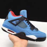 Wholesale Christmas Cushions - 2018 top quality 4s Travis Scot 308497-406 Houston Oiler Cactus Jack Mens Basketball Shoes WithBox Size 8-13 Athletic Sport Sneakers