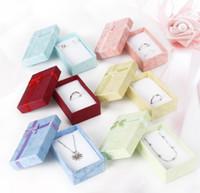 caixa de jóias com anel de papel venda por atacado-5 * 8 * 2.5 cm Moda para Encantos Beads Gift Box Embalagem de papel para Pingentes Colares Brincos Anéis Pulseiras Jóias