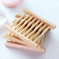 Soap Dishes Natural Wooden Tray Holder Bath Soaps Rack Plate Container Shower Bathroom Accessories Hollow OEM Available YW75-ZWL
