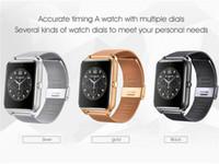 ingrosso vigilanza astuta del v8 del bluetooth-Bluetooth Smart Watch telefono Z60 supporto in acciaio inox SIM Card TF Fitness Tracker GT08 GT09 DZ09 V8 Smartwatch per IOS Android