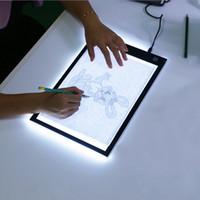 box für tabletten großhandel-Kühles LED-Grafiktablett-Schreiben, das Anstrich-Licht-Kasten-Verfolgungs-Brett-Kopien-Auflage-Digital-Zeichnungs-Tablette Artcraft A4 Kopien-Tabellen-LED Brett-Beleuchtung zeichnet