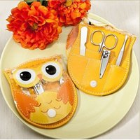 Wholesale owl baby shower party favors for sale - Group buy Stainless steel cute owl manicure and pedicure set of for Wedding Event Party Favors and Baby Shower Favors wen5831