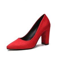 ingrosso le scarpe comode delle signore-Donne Pompe Cinturino alla caviglia Tacco spesso Scarpe da donna Punta quadrata Tacchi medio Vestito Pompe da lavoro Comode scarpe da donna 9CM / 6CM