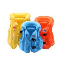yüzer yelek toptan satış-Ayarlanabilir Çocuk Çocuk Bebekler Şişme Havuz Şamandıra Can Yeleği Mayo Çocuk Yüzme Sürüklenen Güvenlik Yelekler