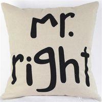 Wholesale english decor resale online - Pillow Case English Letter Pillowslip For Wedding Decor Articles Novel Lip Print Cushion Covers Easy Carry ht cc