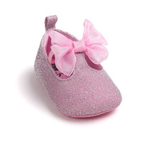 Wholesale ballet moccasins for sale - Group buy cute Bow Toddler First Walkers shoes Pu leather Baby moccasins Newborn girls Ballet Dress Shoes Soft Soled for M