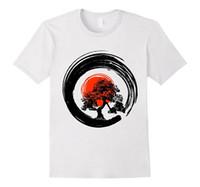 ingrosso bonsai trees-Magliette personalizzate Online Premium O-Neck Bonsai Tree giapponese Calligrafia a maniche corte T-shirt da uomo