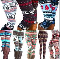 leggings de navidad para niños al por mayor-Chicas mamá Legging Xmas Snowflake renos pantalones pantalones Navidad impresos Leggings familia niños madre pantalones KKA6039