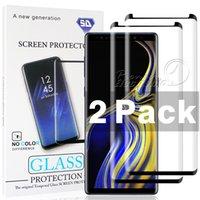 s6 kenarı paketi toptan satış-2 paket Kılıf Dostu Samsung Galaxy S9 S8 Artı Not 9 8 S7 S6 Kenar 3D Eğrisi Kenar HD Temizle Temperli Cam Ekran Koruyucu Ile paket