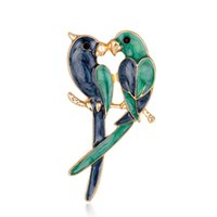 Wholesale Parrot Accessories - Christmas Series Accessories Parrot Brooch Oil Wings Brooch Spot Wholesale Corsage New Jewelry Female Fashion Temperament Alloy Brooch