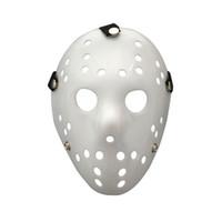 costumes effrayants pour hommes achat en gros de-Effrayant Horreur Festival Party Halloween Masque Tout Blanc Jason Masques Mascarade Costume Décor Hommes Vente Chaude 2 9qc gg