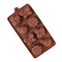 diy silikon çiçek kalıbı toptan satış-Silikon Çikolata Kalıp-Makarna Makinesi Sabun DIY Kalıp Kelebek Böceği Çiçek Jöle Puding Kalıpları Mutfak Gadget