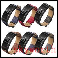 huawei classique achat en gros de-Véritable cuir véritable bretelles bande pour Huawei B3 montre classique remplacement bracelet bretelles bande couleurs de mélange