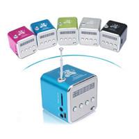 Wholesale Hifi Music Speaker - Xmas Gift Portable Mini Speaker TD-V26 HiFi Stereo Audio Speakers FM Radio TF U Disk Slot Multi-Speaker Digital Sound Box Mp3 Music Player