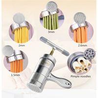 pastacılık makineleri toptan satış-Paslanmaz Çelik Makarna Erişte Makinesi Makinesi Kesici Taze Spagetti Mutfak Pasta Noddle Yapma Pişirme Araçları Mutfak Için
