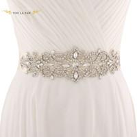Wholesale wedding dresses waist sash online - Popular Adults Waist Seal For Women Wedding Sash Accessories Colorful With Rhinestone Wedding Dress Belt New Arrival yl BB
