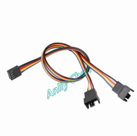 Wholesale Computer Power Adapter Cables - 2 PieceS LOT 4Pin Female to Dual 2 4Pin Male Y-Splitter Adapter PWM Fans Power Extension Cable 30mm