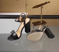 zapatos de gran tamaño al aire libre al por mayor-2018 nueva llegada de la moda de mujer tacones altos sandalias de cuero suave gamuza casual zapatos de sandalia negro señora tacones al aire libre de gran tamaño 42 41 40 verde