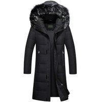 rodilla hasta abajo abrigos al por mayor-2017 Nuevo Over-knees Length Down Coat Man Plus Size Grueso impermeable Winter Parka Men