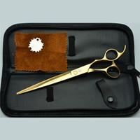 qualité des ciseaux achat en gros de-Ciseaux de coiffure de 8 pouces professionnel Ciseaux de cheveux Barber Cisailles Coupe de cheveux Stylistes prouvé de haute qualité Tijeras UN302