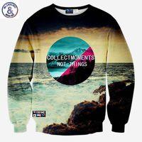 Wholesale Animal Scenery - Hip Hop New hoodies men tops autumn pullovers 3d sweatshirts print Sea scenery slim casual graphic hoodies