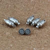 cierre magnético de plata antigua al por mayor-30 juegos / lote 15.5 * 5.5 MM Potente Magnético Magnético Collar Cierres de plata antigua para Collar de Joyería DIY