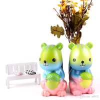 Wholesale stress relief toys for kids resale online - Cartoon Squirrel Jumbo Squishy PU Slow Rising Decompression Squihies Soft Bun Vent Toys For Kids Adults Relief Stress Super Kawaii sq ZZ