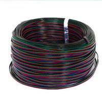 Wholesale rgb led extension - 164FT 50M 50 Meters RGB 4-Pin Extension Connector Cable Cord For 3528 5050 RGB LED Strip Indoor Lighting Extension Cord Lighting Accessorie