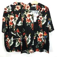 Wholesale casual men s shirts flowers for sale - 2018ss Best version new Fashion hiphop justin bieber Streetwear Flowers Rhude Shirt Men Women kanye west Short Sleeved Shirt tee