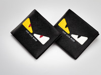 Wholesale Cards Two Folds - Men's Little Monster Wallet Male Short Two Fold PU Leather Student Anime Cartoon Money Wallet Teenager Fashion Tide Coin Pocket YYA1243