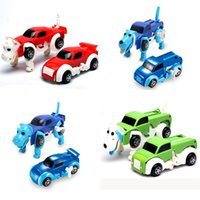 Wholesale winding toys resale online - 6 colors CM kid toys cool Automatic transform Clockwork Dog Car Vehicle Clockwork Wind up toy for children kids toys Car toy Gift