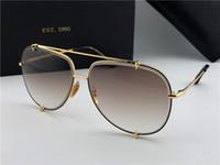 Wholesale Blue Cut Crystal - New luxury brand sunglasses D T talon 3.0 men sunglasses pilots metal crystal cutting frame 18K gold-plated UV400 lens top quality