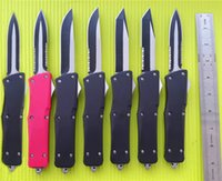 Wholesale large outdoor knife - Outdoor Tool Large A16 combat troodon D A auto tactical knife 440C steel Two-tone Survival knives Custom knife 7 styles Q