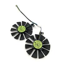 reemplazo del cojinete del ventilador al por mayor-EVERFLOW T129215BU ventilador de gráficos de reemplazo de cojinete de bolas para tarjeta VGA ASUS ROG STRIX GTX1070Ti GTX1060 GTX1050Ti RX580