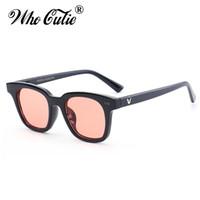 ingrosso corea occhiali da sole donna-2018 Square V South Occhiali da sole Donna Uomo Retro Designer Plastic Frame Corea Occhiali da sole Black Red Lens Shades UV400