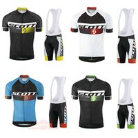 Wholesale scott bike clothing - Crossrider summer SCOTT cycling jersey team bike wear clothes high quality MTB Ropa Ciclismo pro cycling clothing mens short bib sets