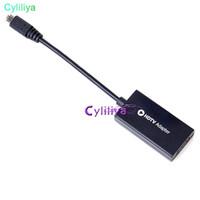 micro pc hdmi al por mayor-5-Pin Micro USB 5 Pin Micro USB 5pin a HDMI HDTV HD TV Adaptador para PC HDTV DVD